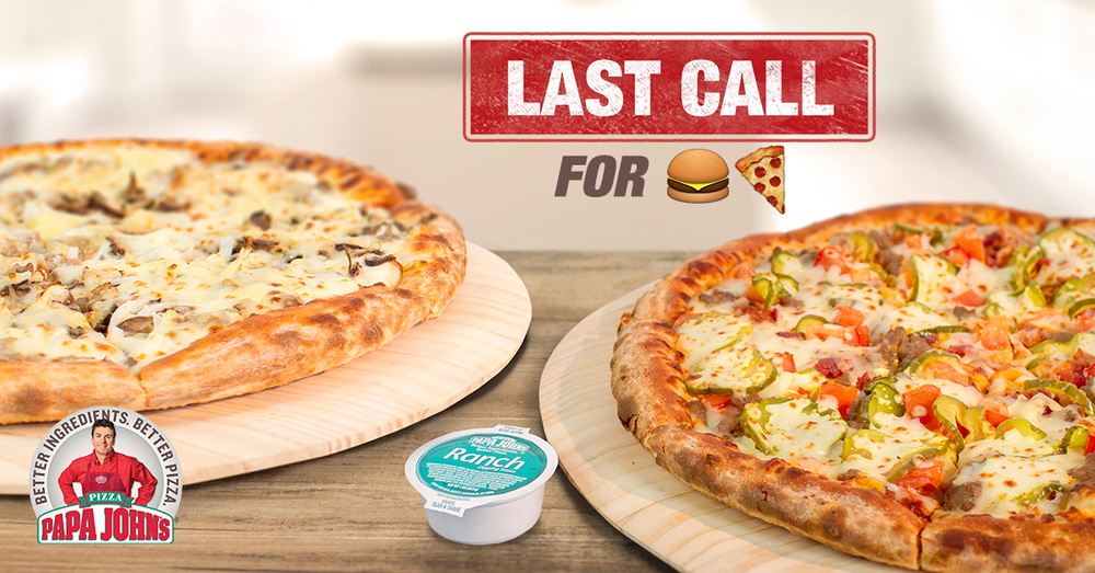 Limited Time Offer Burger Pizza