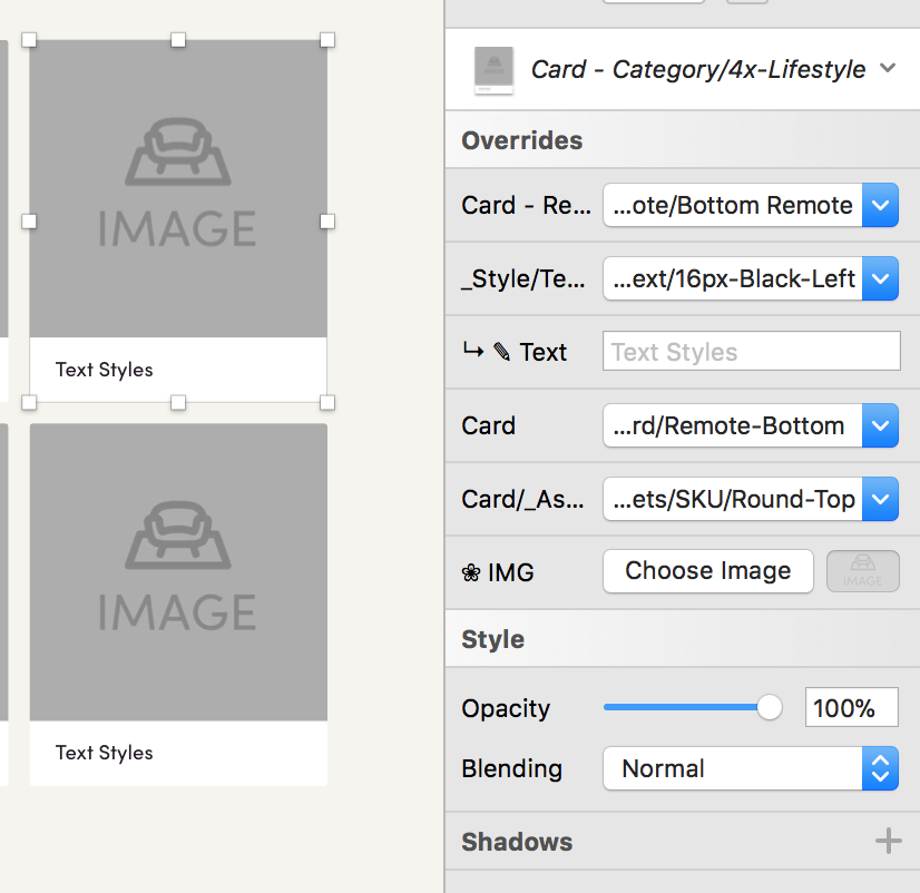 Symbol Overrides - We setup nested symbols so that any designer could customize the component to match their needs.