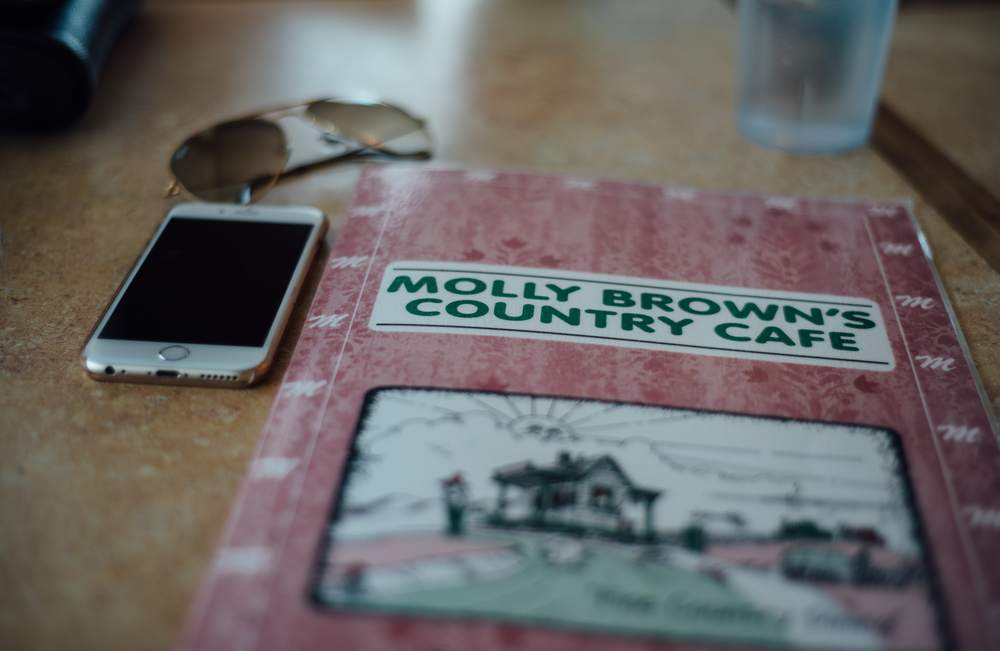 Homemade breakfast at Molly Brown's Cafe. A must stop!