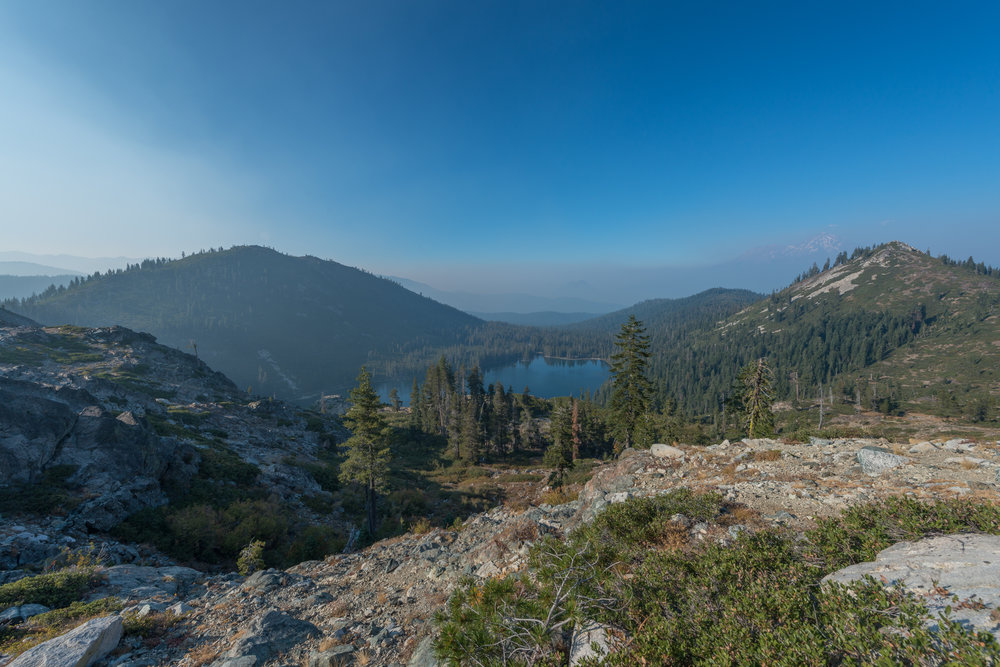 Overlooking Castle Lake - a wonderful hike up to heart lake in Northern California. A great way to end my birthday weekend!