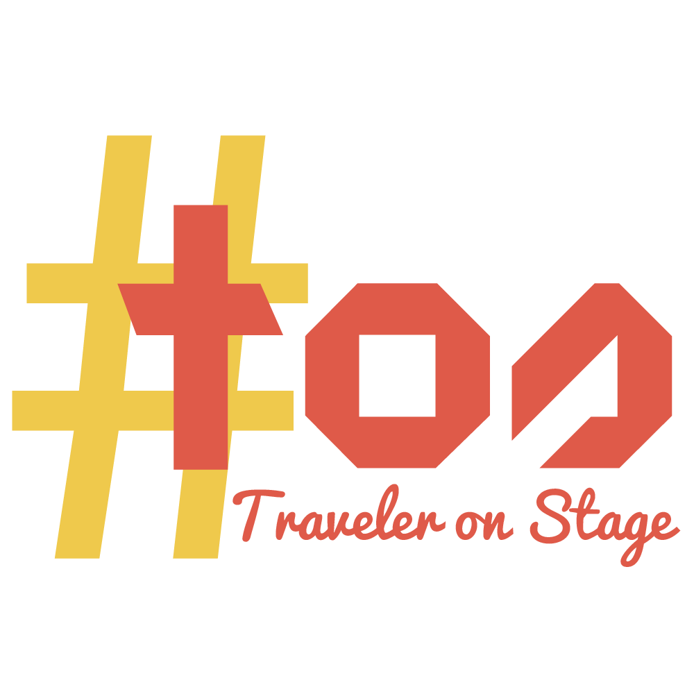Traveler on stage