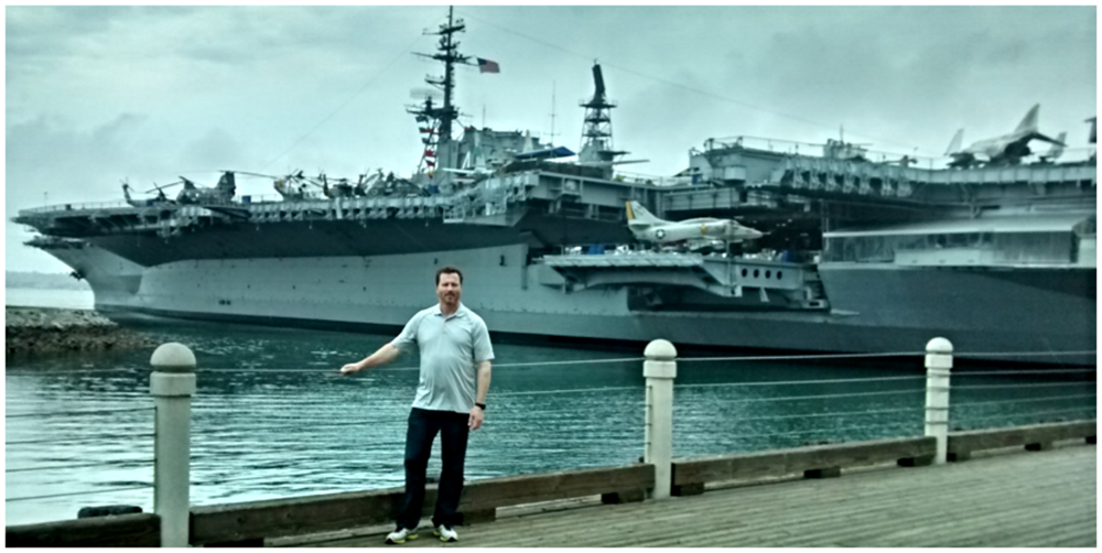 Matt Moran at U.S.S. Midway