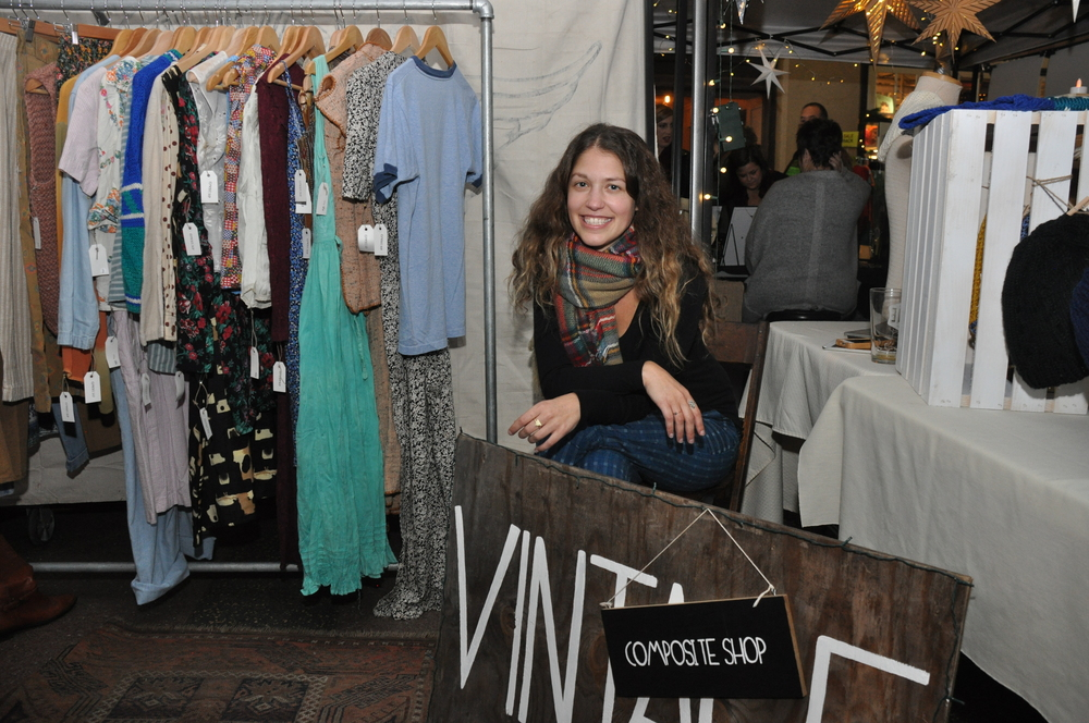 Amanda DiRobella sells handmade jewelry and a curated selection of vintage clothing and goods at Composite Shop. Photo by Charleen Artese.
