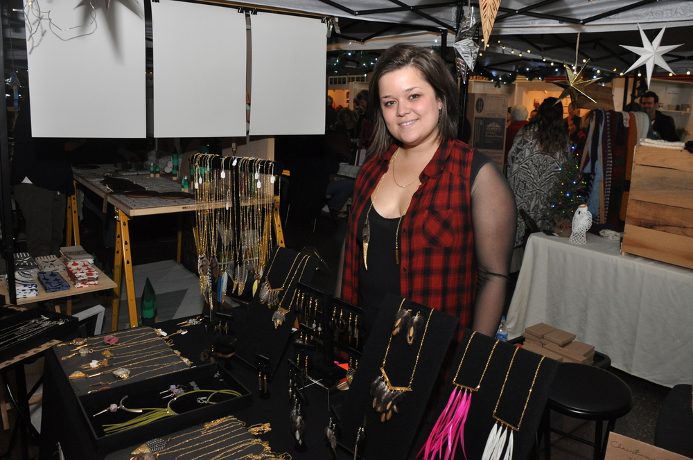 Karisa Perrone of Velvet and Slate makes jewelry, hats and illustrated cards in Jackson, NJ. Photo by Charleen Artese.