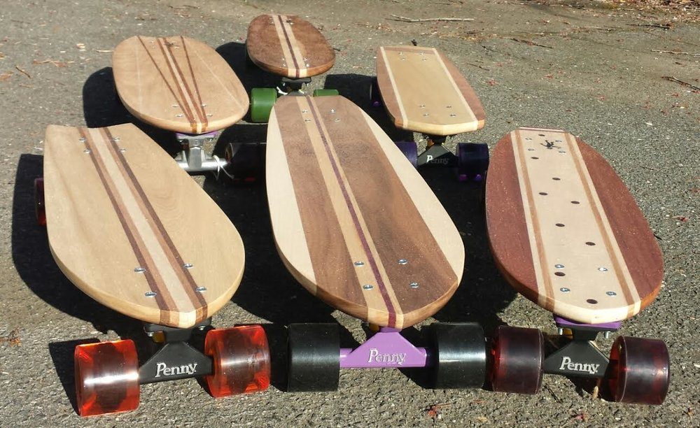 Purple Monkey Skateboards features handcrafted skateboards.