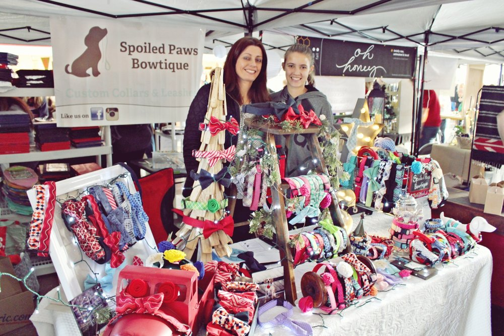 Spoiled Paws Bowtique selling at the Asbury Park Bazaar in Convention Hall