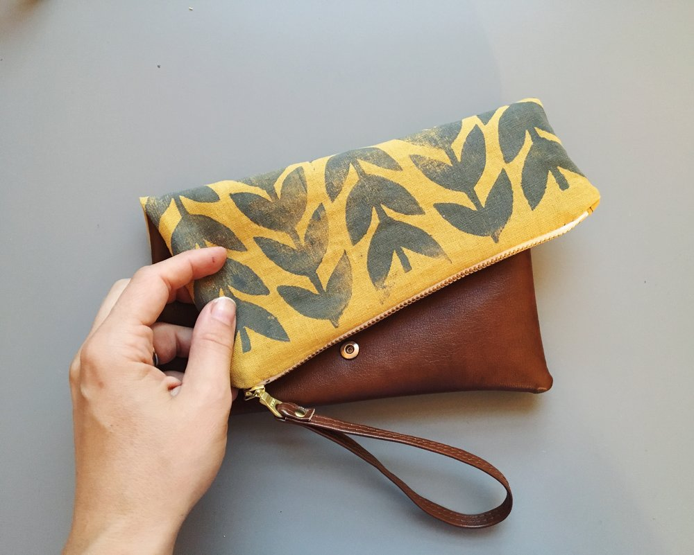 Jenna Aliyah Designs Athens Folded Vegan Leather Clutch