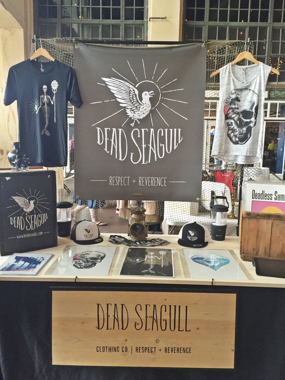 dead seagull clothing co. -  artwork/apparel Saturday & Sunday