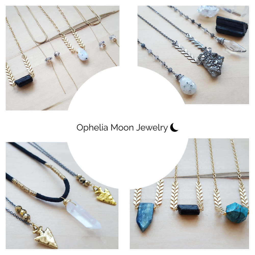 ophelia moon jewelry - handcrafted jewelry saturday