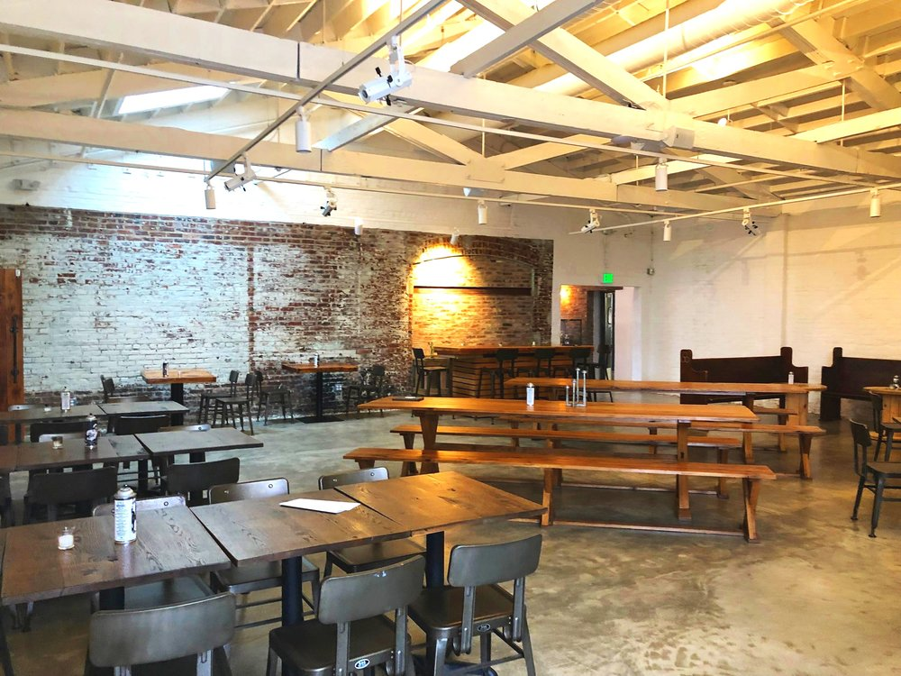 The CHAPEL at WCP is a multi-purpose, 2,100-square-foot indoor space with a soaring gabled roof. Guests can access the Courtyard, Restaurant and Yard.