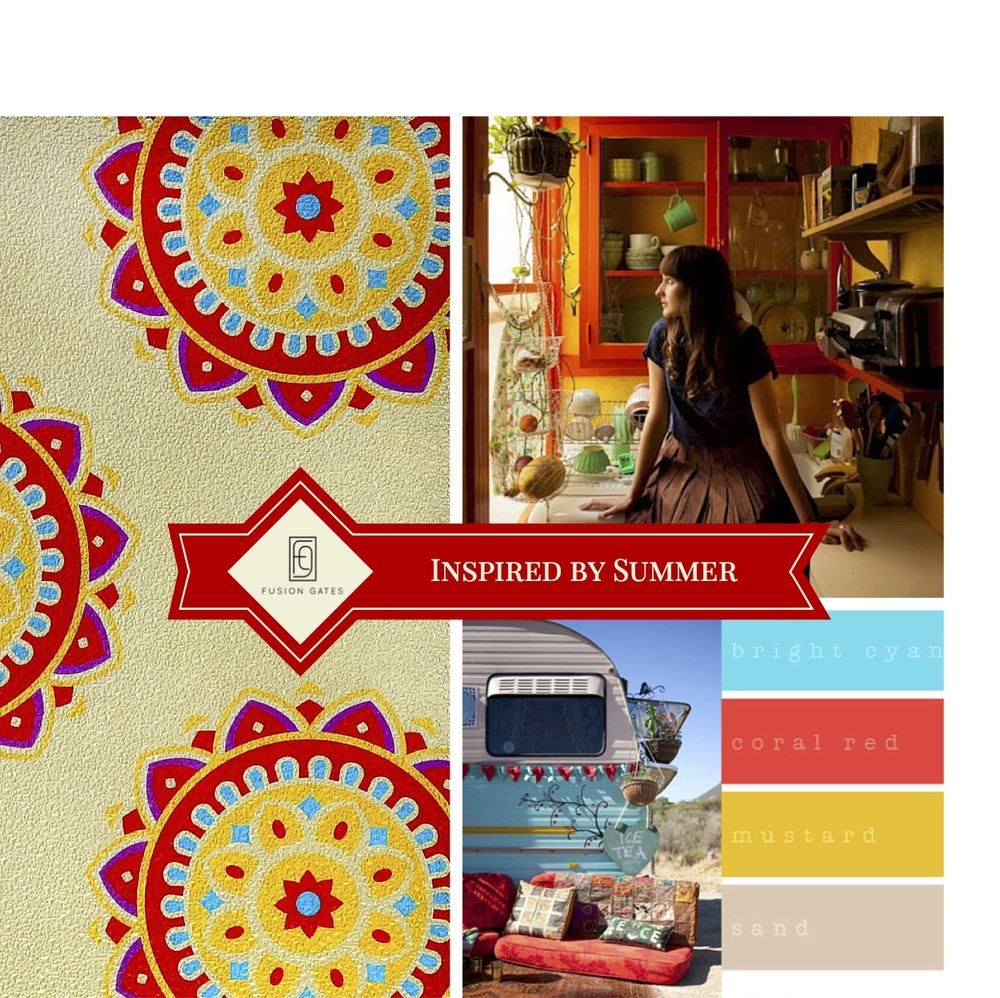 Camper & Colors: BlissInventive.com. Girl in Kitchen: From Moon to Moon Blogspot