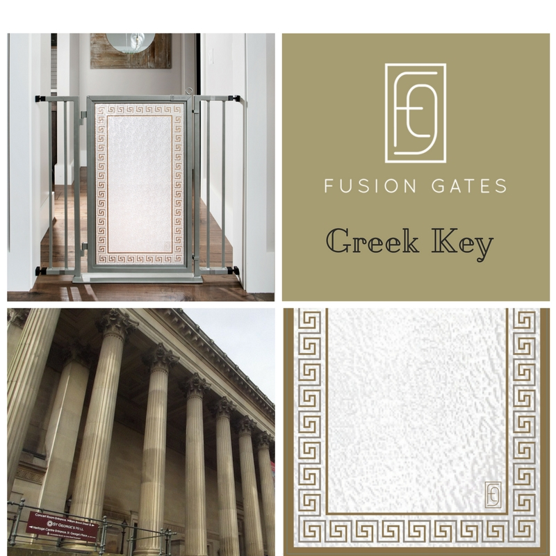 The Greek Key art screen symbolizes the path that leads to eternal bonds of love and friendship.  Like the meander river that inspired the design, the Greek Key border creates a seamless flow of movement from one room to the next.  Sophisticated and clean.