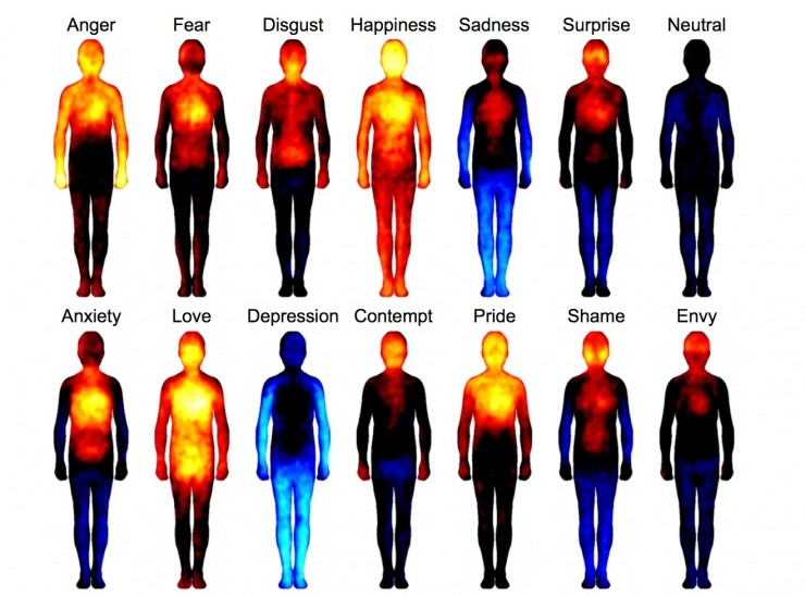 Infrared screening of emotions in the body
