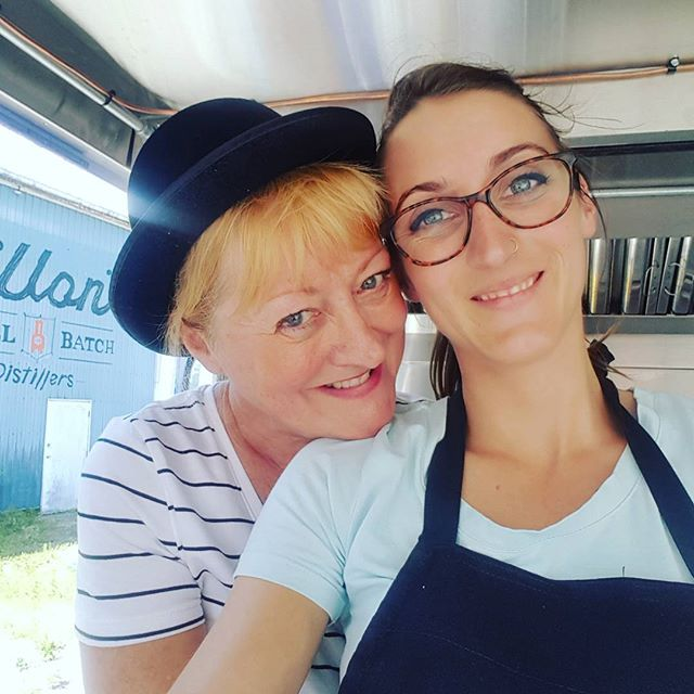 Always a lovely day with mumsy working cash :) She's a cheeky monkey, always harassing the customers for extra cheese and has to point out HER yorkshire puds are the best #takeyourmumtoworkday