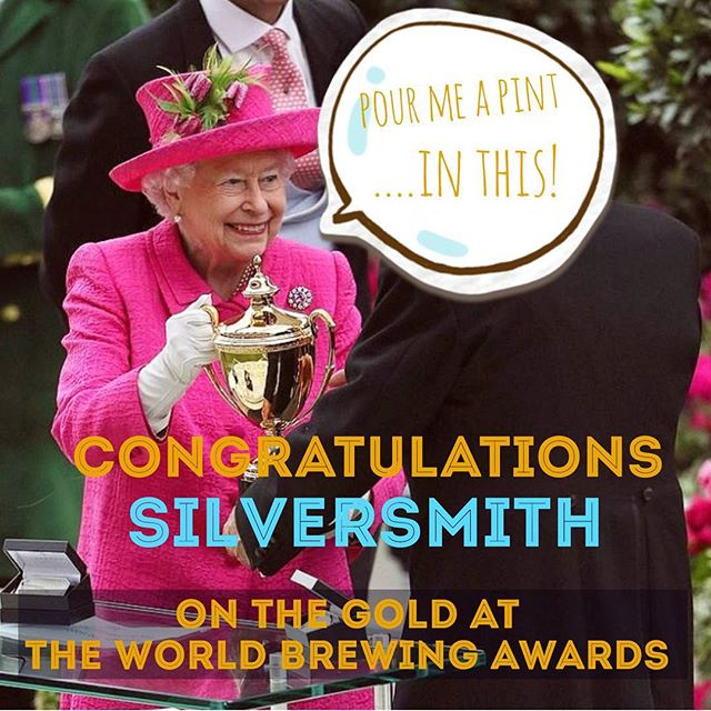 Congratulations to our mates @silversmithbrewing on their GOLD win for CANADA  #worldbeerawards #pourmeapint