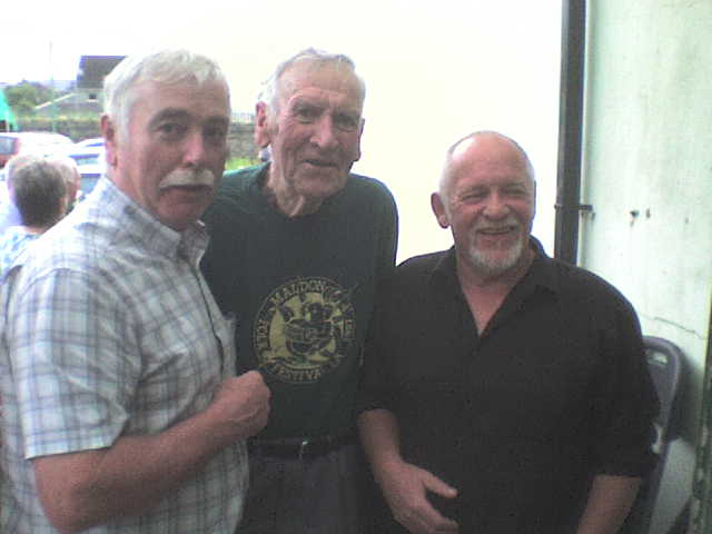 Colin Baxter ( My Cousin), John Baxter ( My Dad) and Eric Bogle - Fiddler's Green Festival, Rostrevor, Co Down, N Ireland July 2009