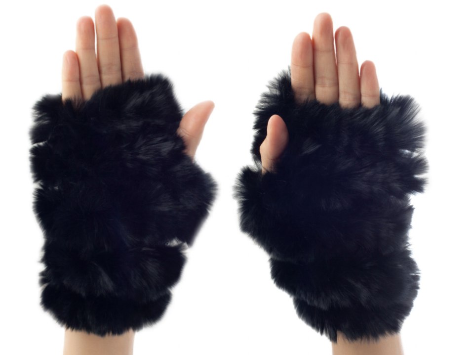 Jocelyn Fur Fingerless Fur Mittens, $70,shopjocelyn.com Photo: Courtesy of ahalife.com