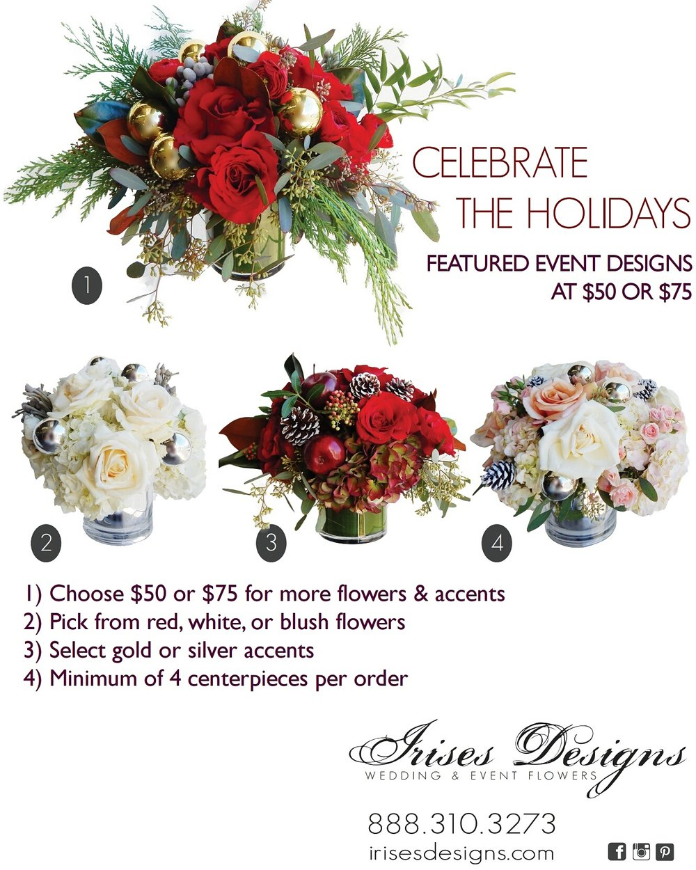 holiday centerpieces irises designs.jpg