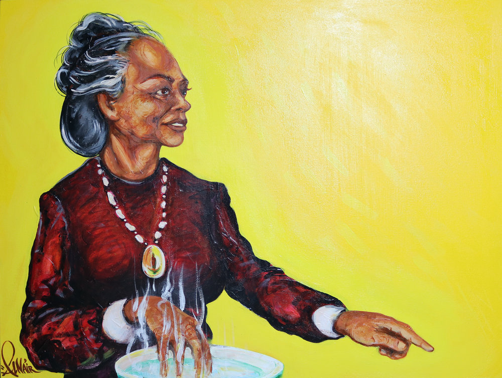 """Grandma"" 30 x 40 inches Acrylic on Canvas $1,800"