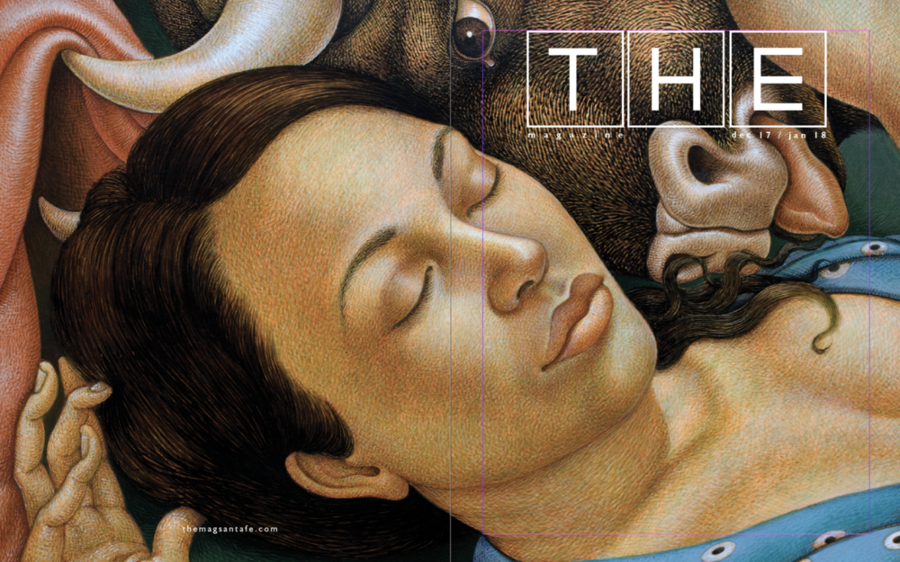 Michael Bergt is the cover artist for December's THE Magazine, A Santa Fe publication.