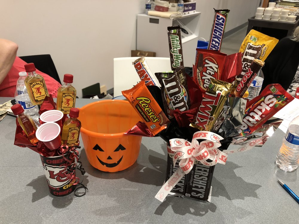 Kansas City CMSA - During Case Management Week, Kansas City CMSA raised $149 on two raffles donated by current CMSA Foundation President, Deborah Gutteridge. One was a bouquet of candy bars, and one a Chiefs cup with fun party items!