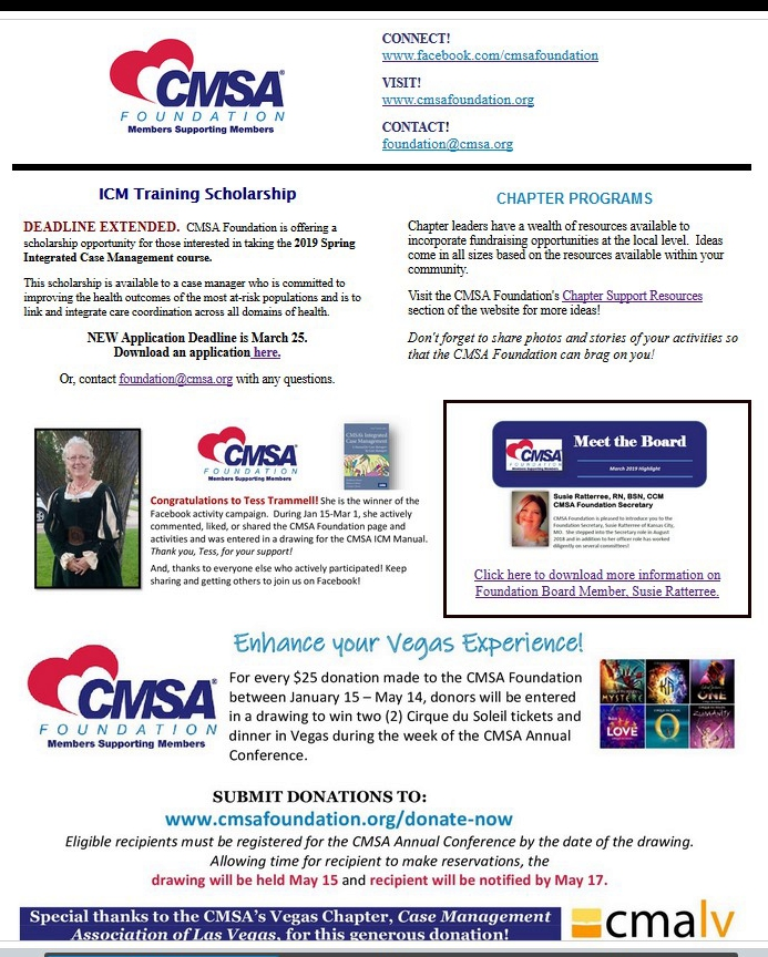 2019 Spring News - See what's new with the CMSA Foundation!