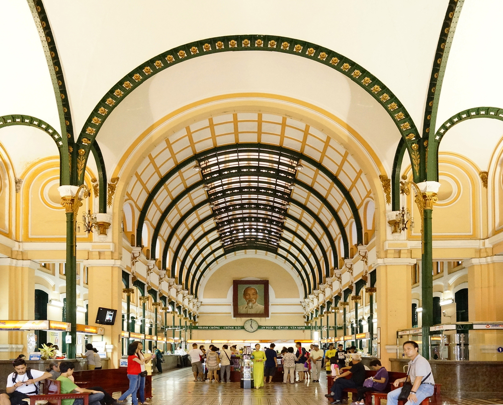 Ho Chi Minh Featuring Gustave Eiffel's Saigon Central Post Office