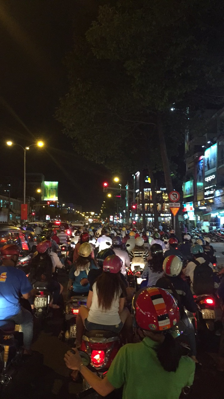 Evening Rush Hour in Saigon