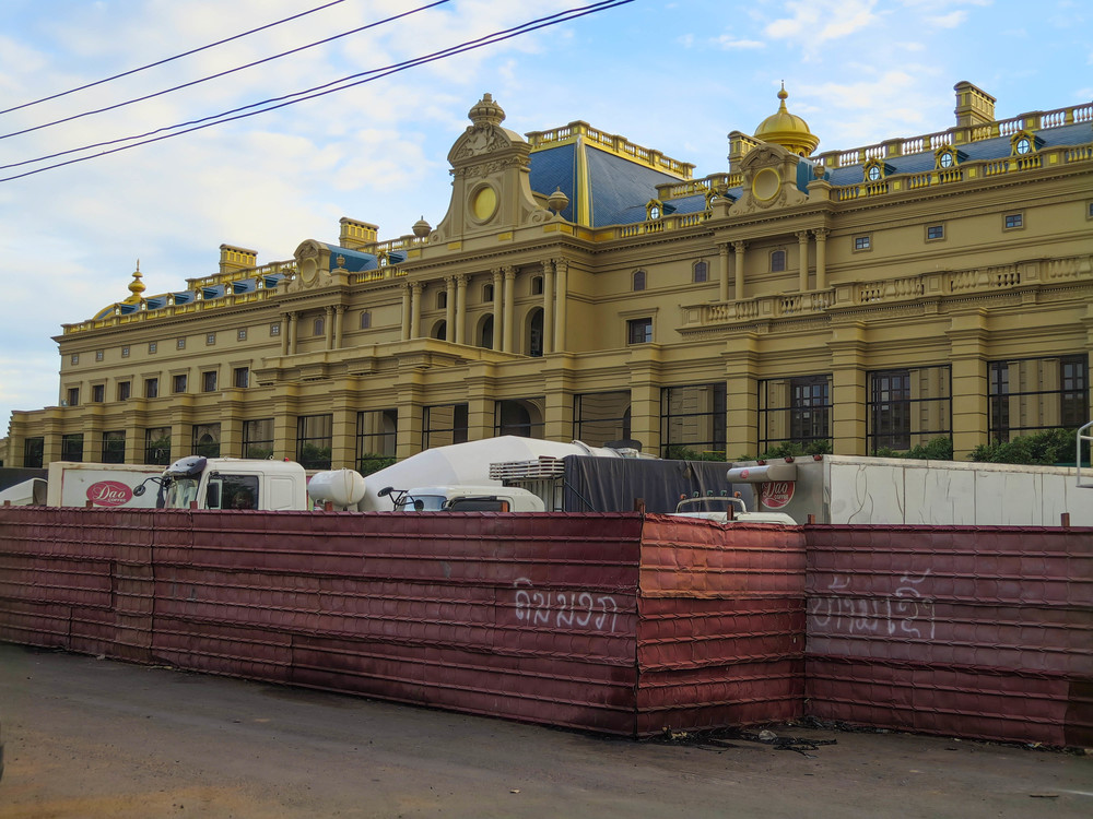 Lao Millionaire's Mansion under Construction...Versailles Anyone?