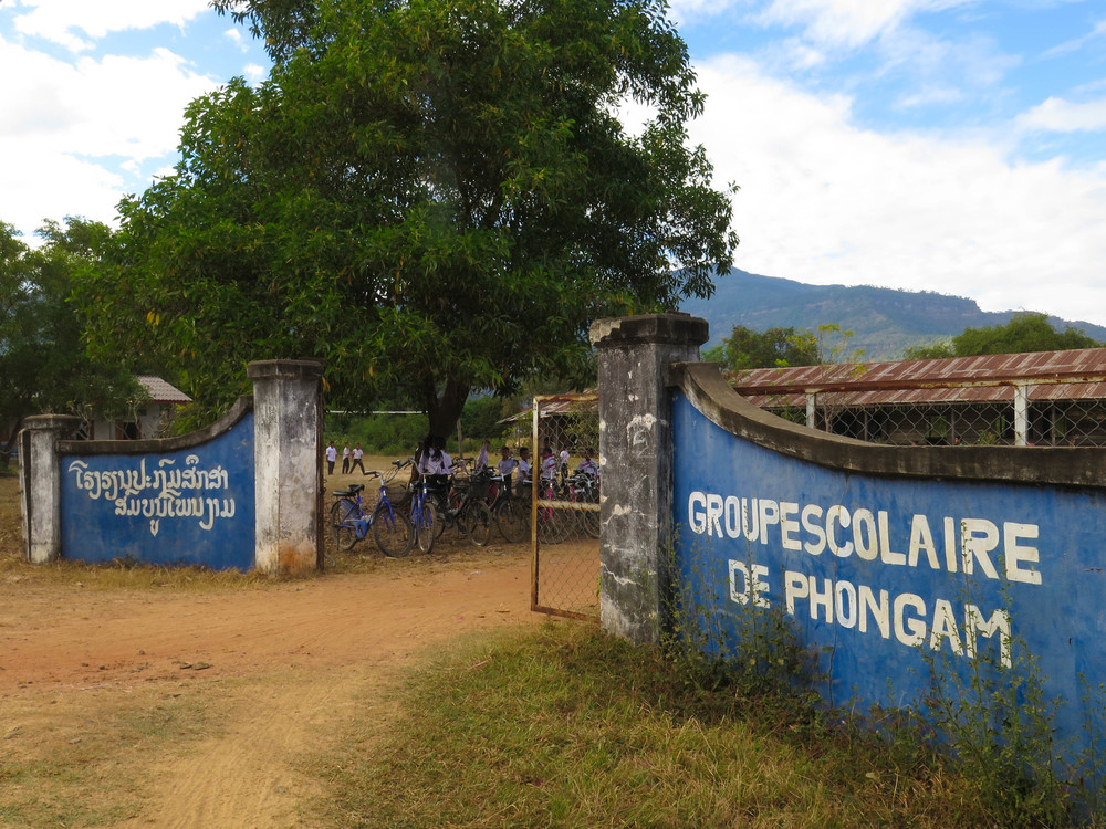 Common School Signage in Rural Laos