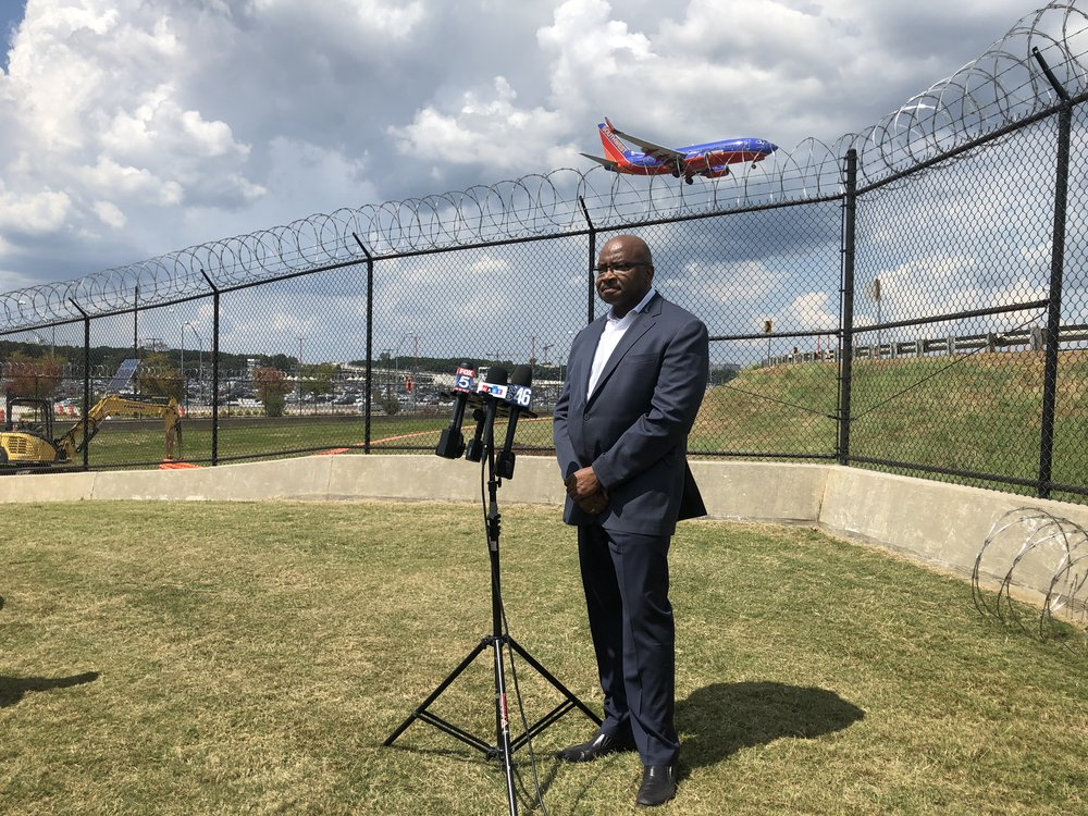Hartsfield-Jackson Airport had a press conference to point out the razor wire it added to the top of its fence. Two people have breached the fence this summer.