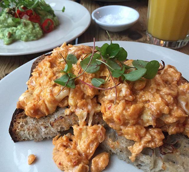 Nduja scrambled eggs ❤️ Yes @salon_brixton !!! #brixton #salon #food #eggs #nduja #scrambledeggs #instafood #foodie #breakfast #foodporn