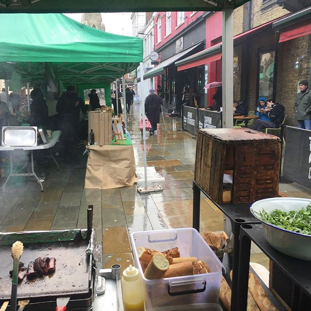 The weather app is a liar. Shattered dreams on Venn St.  #nofilter #marketday #marketlife #rain #january #3daysuntilcuba