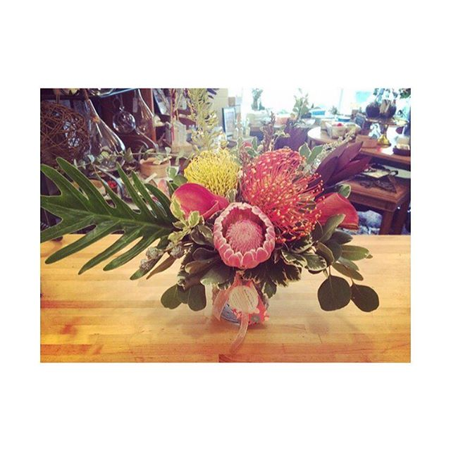 Wild Protea centerpieces for a fab 40th! 🌿 . . . #protea #wild #vancouver #event #eventflowers #sunday #spring #instaflower #instaflowers #flowers #florist #floristlife #flowershop #newwestflorist #newwest #newwestminster #madeinnewwest #bestofnewwest #shopnewwest #shopnewwestminster #buylocalbc #bespoke #bloombloomroomnewwest  #howistylemyblooms #flowersofinstagram #becauseflowers