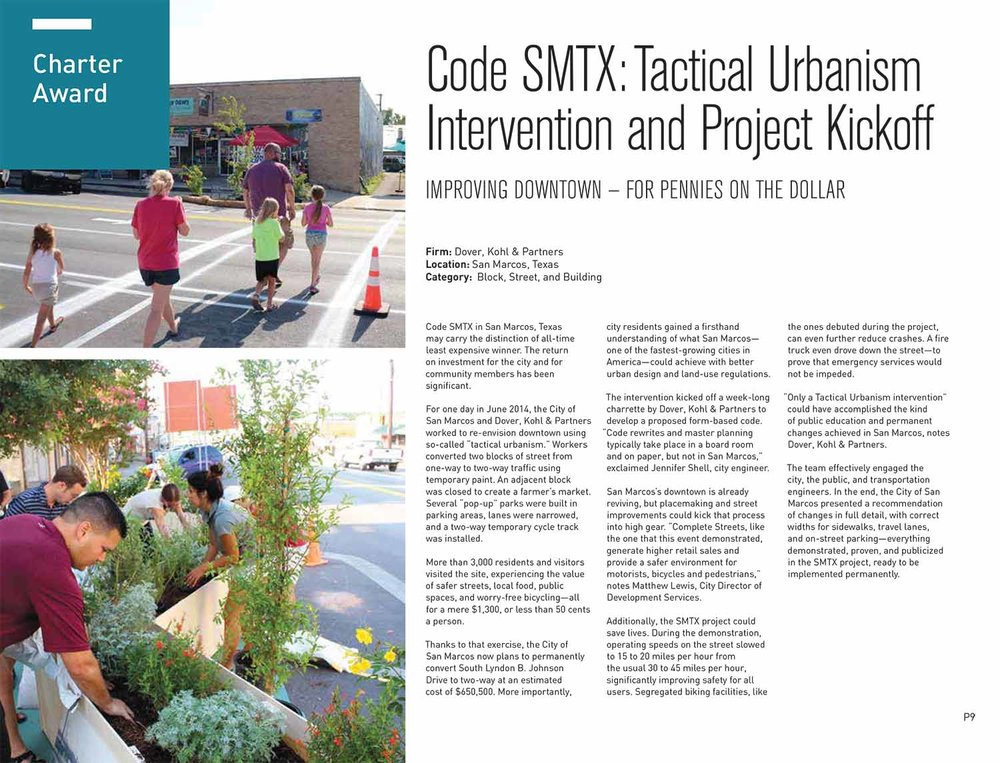 2015-Charter Award of Excellence for Code SMTX-Tactical Urbanism Intervention and Project Kickoff on the Block, Street, and Building Scale.jpg