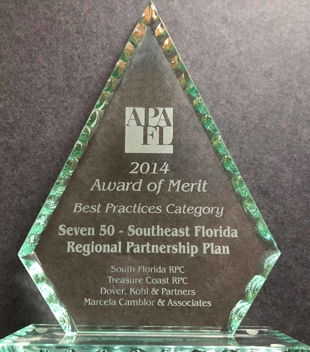 2014-Award of Merit Seven50 Southeast Florida Regional Partnership Plan.jpg