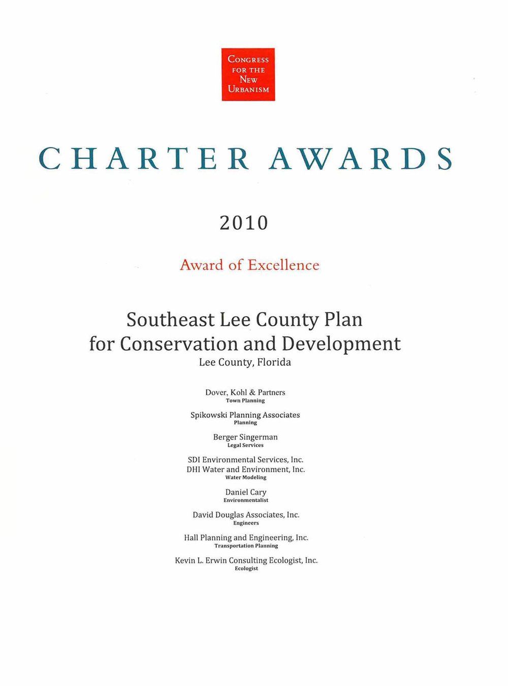 2010-Chapter Awars- of exellence-Southeast Lee County Plan.jpg