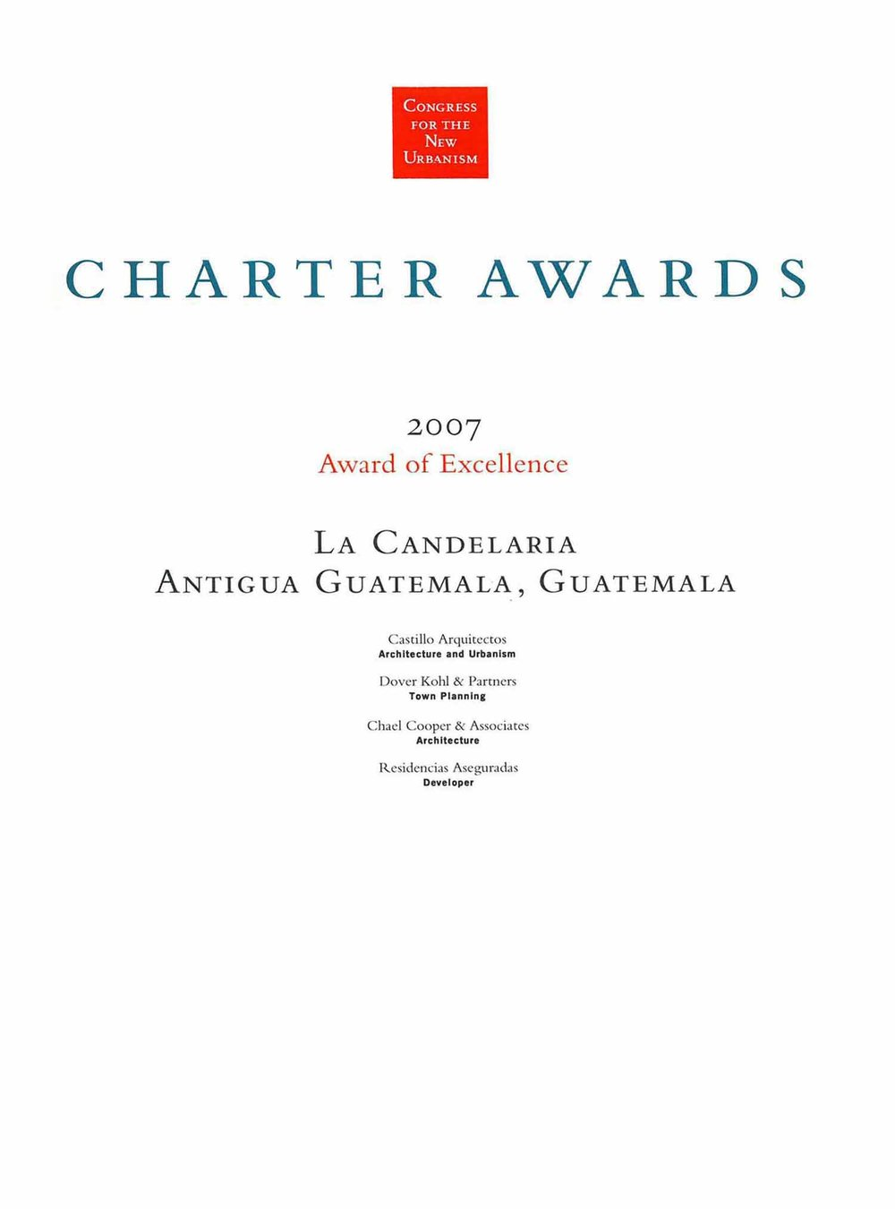 2007-Chapter Awars- of exellence-La Candelaria Antigua Guatemala.jpg