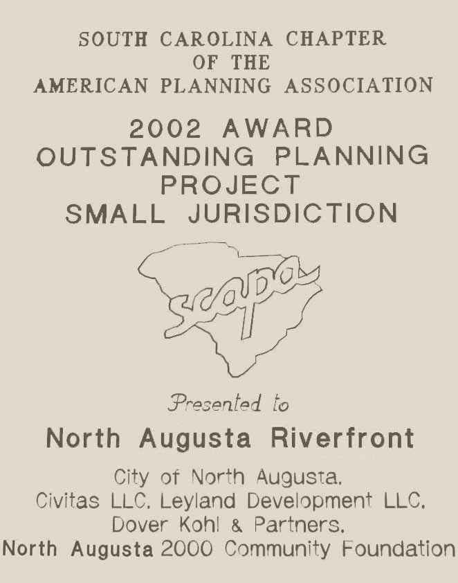 2002-Award for an Outstanding Planning Project in the Small Jurisdiction presented to North Augusta Riverfront.jpg