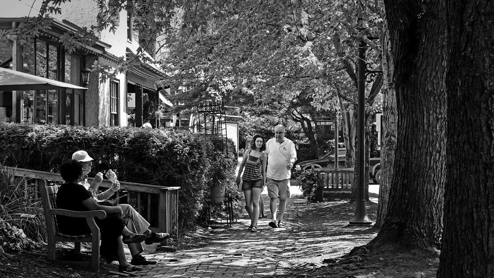 2Enjoying the shade on Boston Way, in Biltmore Village, Asheville NC, your #streetoftheday. It's getting scrutinized today by National Town Builders Association members september 7.jpg