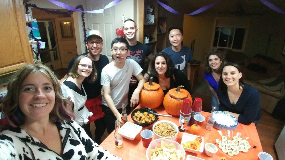 Halloween party, Oct 2017