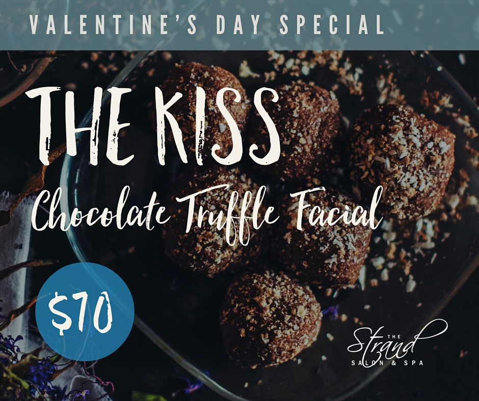 Chocolate truffle facial for our Valentine's day special at the Strand Salon & Spa in Columbia, MO.