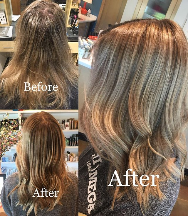 Shadow root+tone+cut+style by @allie_linder  #shadowroot #aveda #avedacolor #avedaartist #avedasalon @aveda @inspireaveda #colormelt #blondehair #fallhair #licensedtocreate #behindthechair @behindthechair_com @cosmoprofbeauty #cosmoprofbeauty #highlights #beforeandafter #hairgoals #hairinspiration #hairoftheday #instahair #columbiamo #mizzou