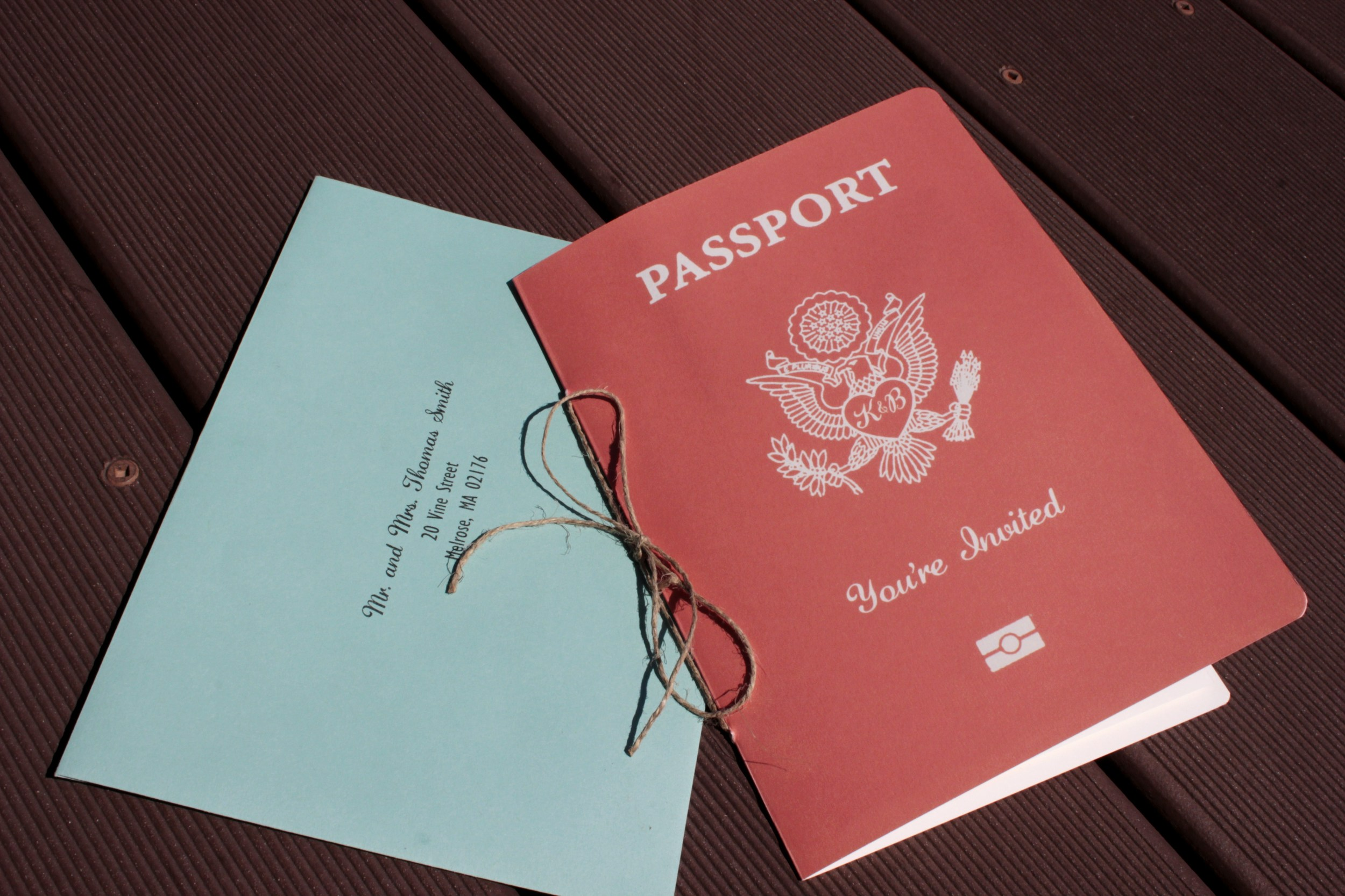 Passport Wedding Invitations — Katherine Elizabeth Events