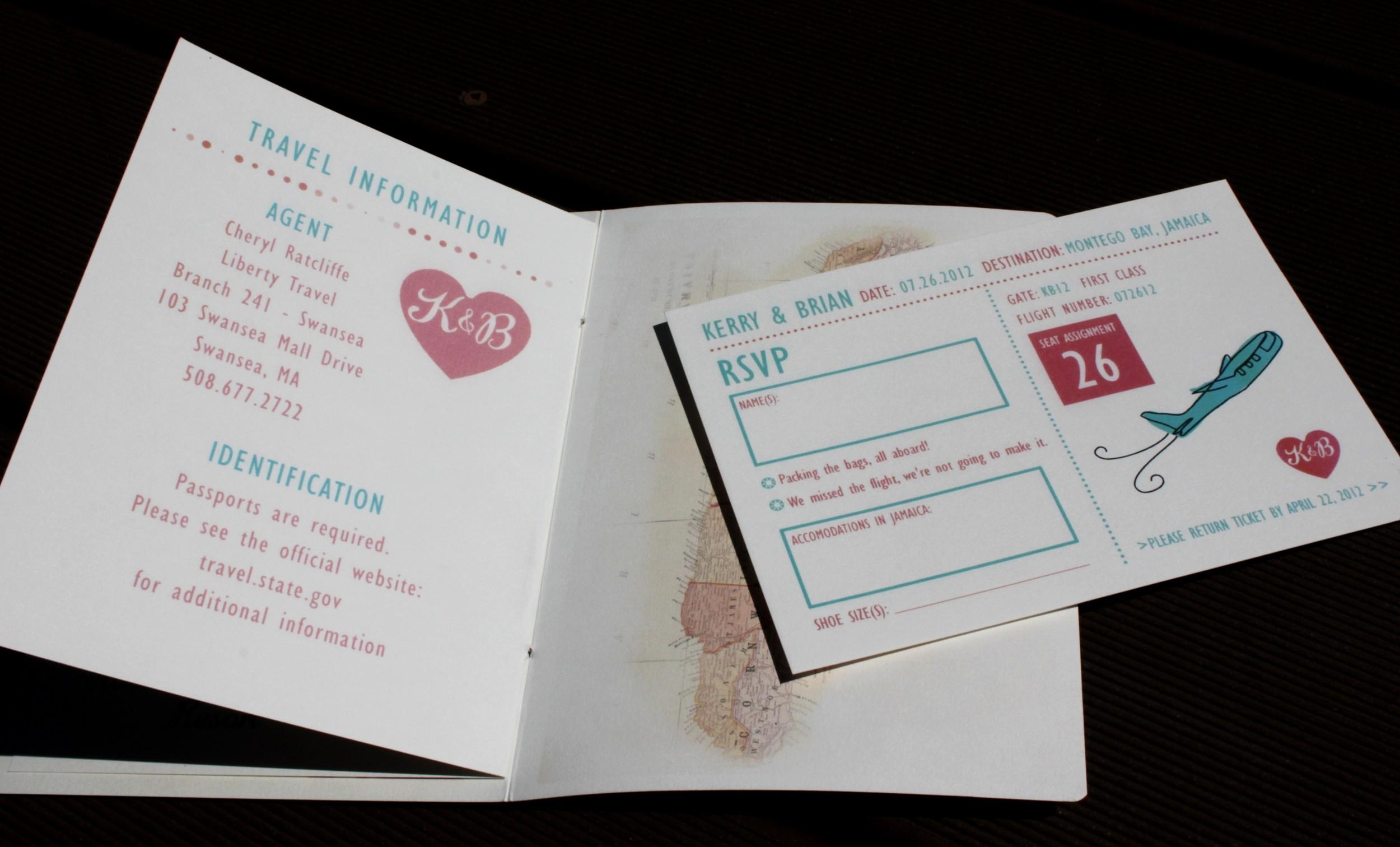 Passport Wedding Invitations — Katherine Elizabeth Events
