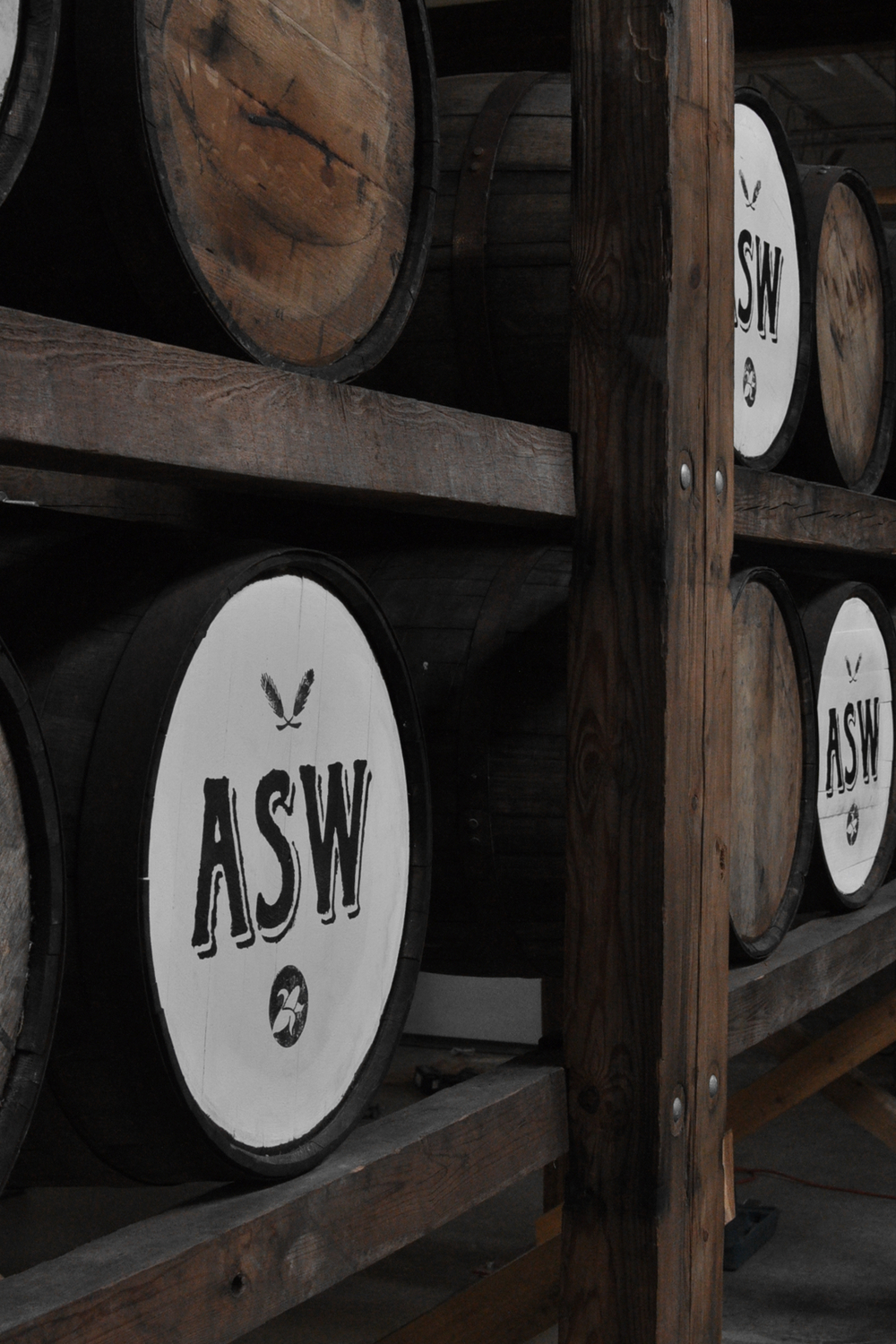 Our Barrels of Aging Whiskey