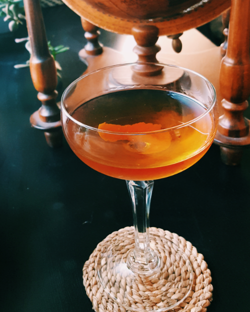 ASW Distillery - Atlanta craft whiskey & brandy distillery - rye whiskey manhattan with orange peel