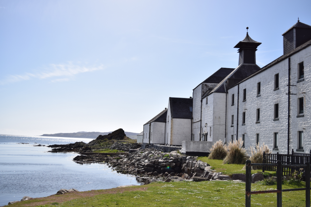ASW Distillery - Atlanta craft whiskey & brandy distillery - Lagavulin Scotch distillery Islay Scotland pagodas