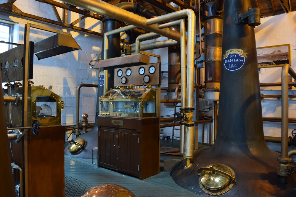 ASW Distillery - Atlanta craft whiskey & brandy distillery - Bruichladdich Scotch spirit safe & stills on Islay Scotland