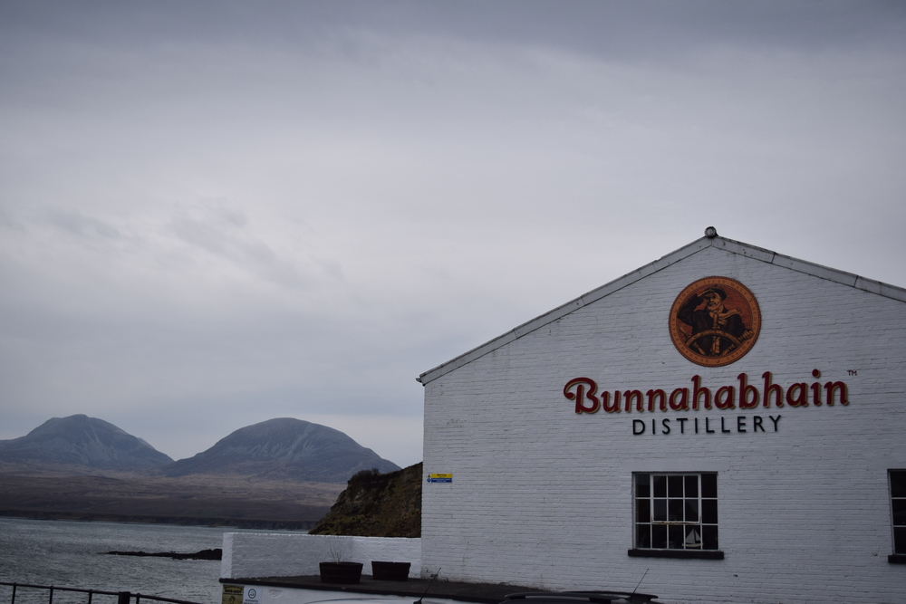 ASW Distillery - Atlanta craft whiskey & brandy distillery - Bunnahabhain Scotch distillery Islay Scotland Paps of Jura